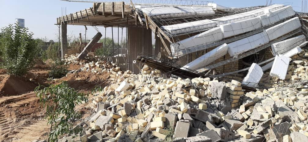 قلع و قمع ۱۷۶ سازه غیر مجاز در منطقه سیاخ دارنگون شیراز