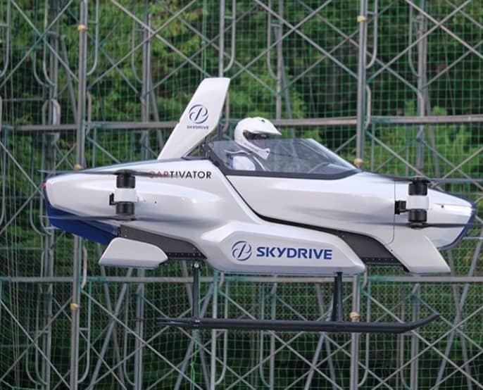 تحقق رویای خودروهای پرنده در سرزمین خورشید تابان