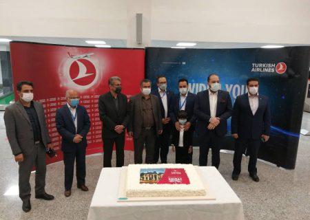 آغاز مجدد پروازهای شیرازبه استانبول ازطریق هواپیمایی ترکیشایرلاین