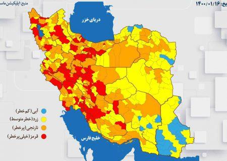 موج چهارم کرونا شیراز را قرمز کرد