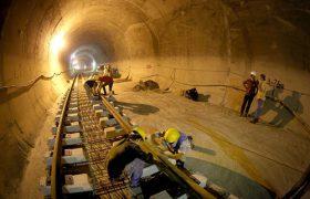 پایان  کامل عملیات  کامل ریل گذاری خط ۲ تا ایستگاه امیرکبیر